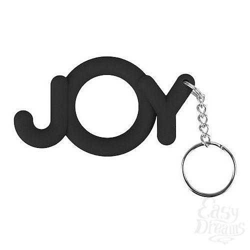Фотография 1:  Эрекционное кольцо Joy Cocking черное
