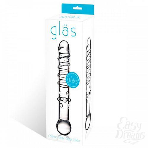 Фотография 2  Стеклянная прозрачная палочка-фаллос, 18 см