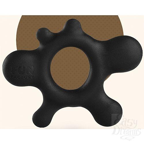 Фотография 1:  Черное эрекционное кольцо Rain
