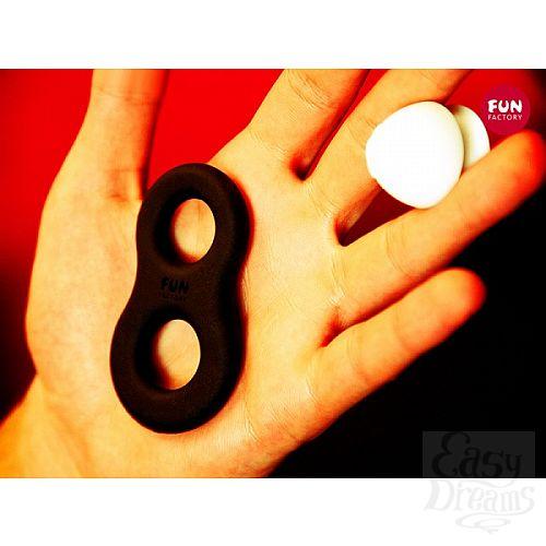 Фотография 2  Черное эрекционное кольцо 8ight со съёмным стимулятором клитора