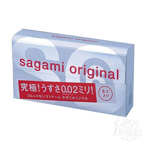 Фотография 1:  Презервативы Sagami Original 0.02 (6 шт.)