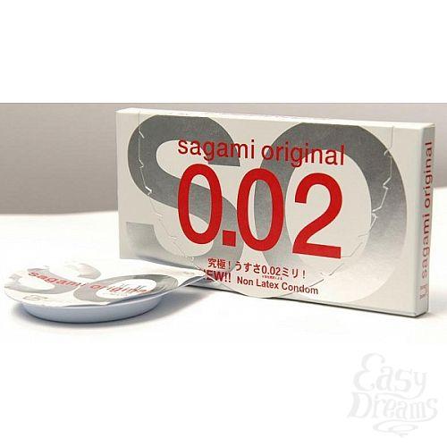Фотография 1:  Презервативы Sagami Original 0.02 (2 шт.)