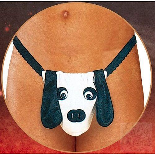 Фотография 1:  Мужские трусы-стринг с собачкой
