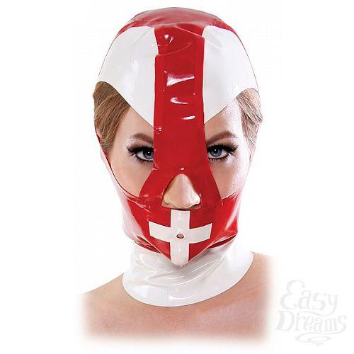 Фотография 1:  Красно-белый шлем на молнии