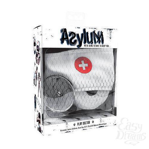 Фотография 1:  Набор доктора Asylum: шапочка, отражатель и эластичная фиксация