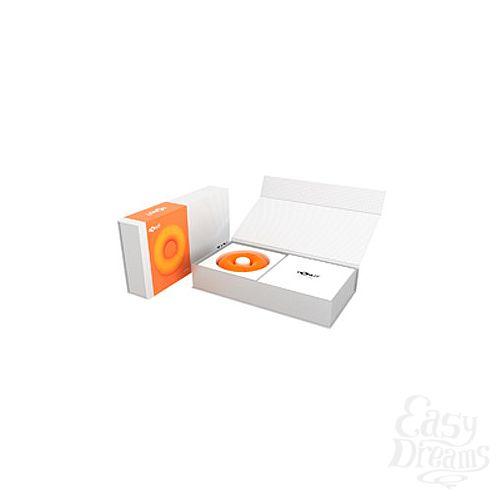 Фотография 1:  Универсальный вибромассажер DONUT ORANGE оранжевый